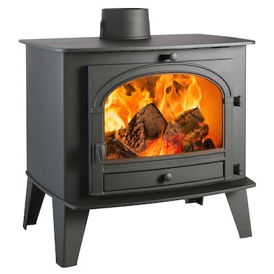 Parkray Consort 15 Wood Stove Black Single Door