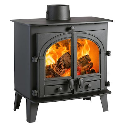 Parkray Consort 5 Slimline Wood Stove Black Double Doors