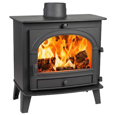Parkray Consort 5 Slimline Wood Stove Black Single Door