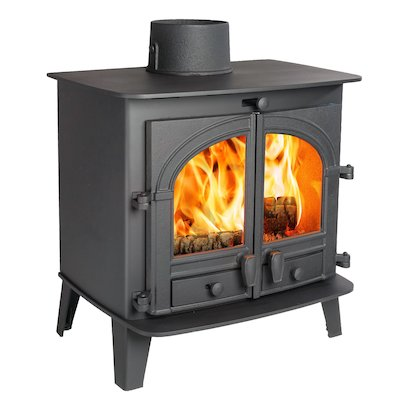 Parkray Consort 7 Wood Stove Black Double Doors