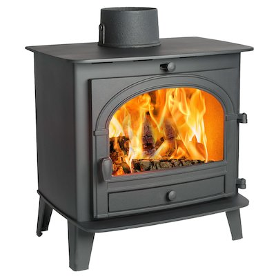 Parkray Consort 7 Wood Stove Black Single Door