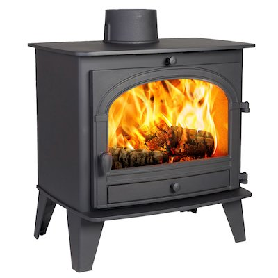 Parkray Consort 9 Wood Stove Black Single Door
