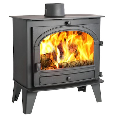 Parkray Consort 9 Slimline Wood Stove Black Single Door