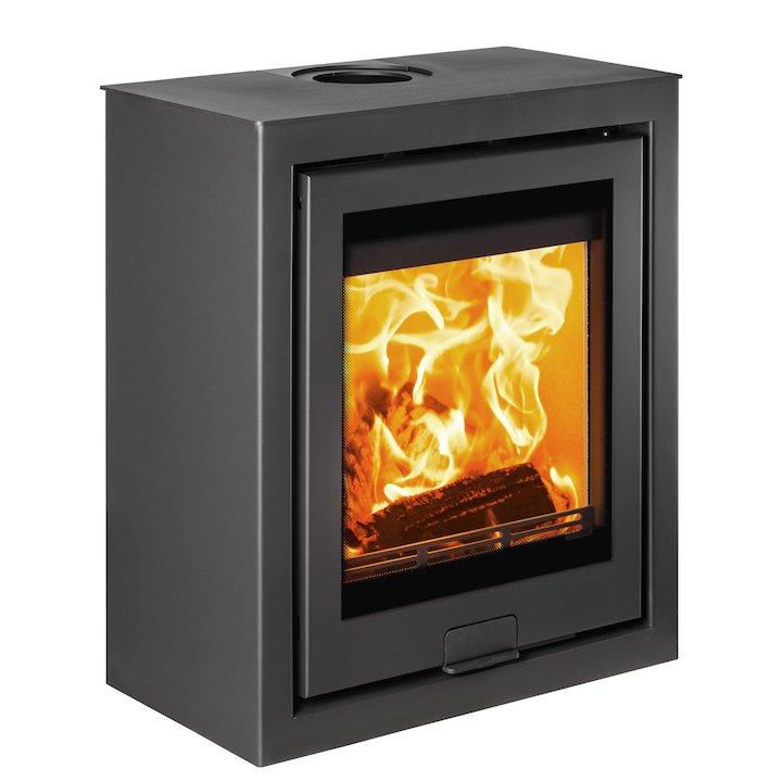 Di Lusso R5 Cube Wood Stove Black Quattro - Black