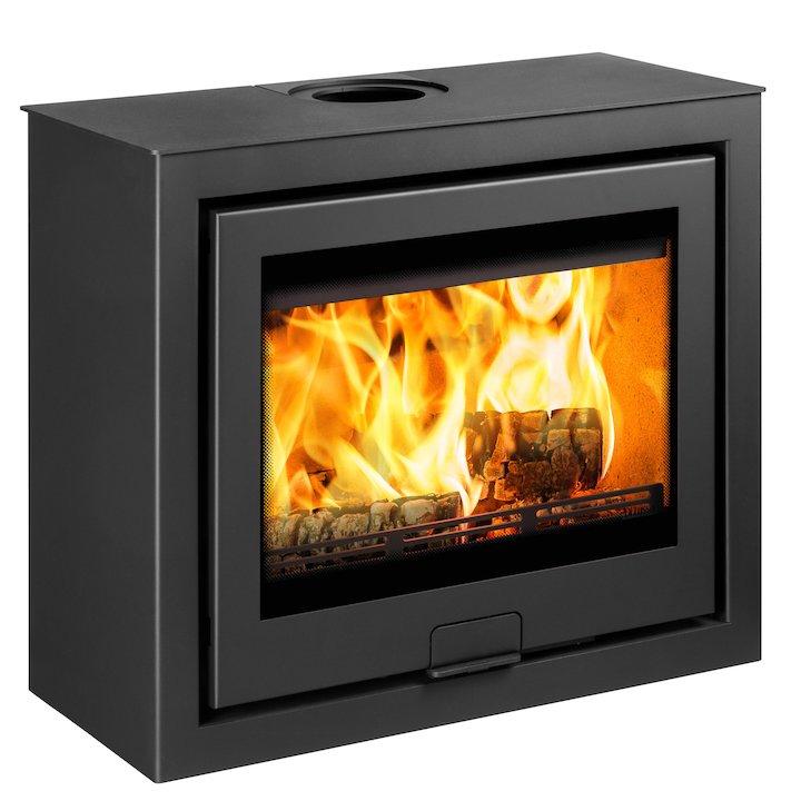 Di Lusso R6 Cube Wood Stove Black Quattro - Black