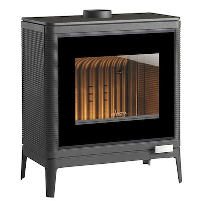 Invicta Kazan Wood Stove Anthracite Black Glass Framed Door