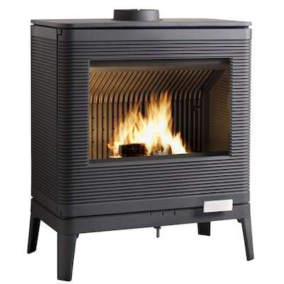Invicta Kazan Wood Stove Anthracite Metal Framed Door