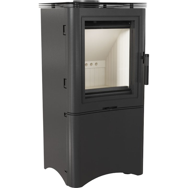 Kratki Koza K5 Logstore Wood Stove Black Logstore with Door - Black