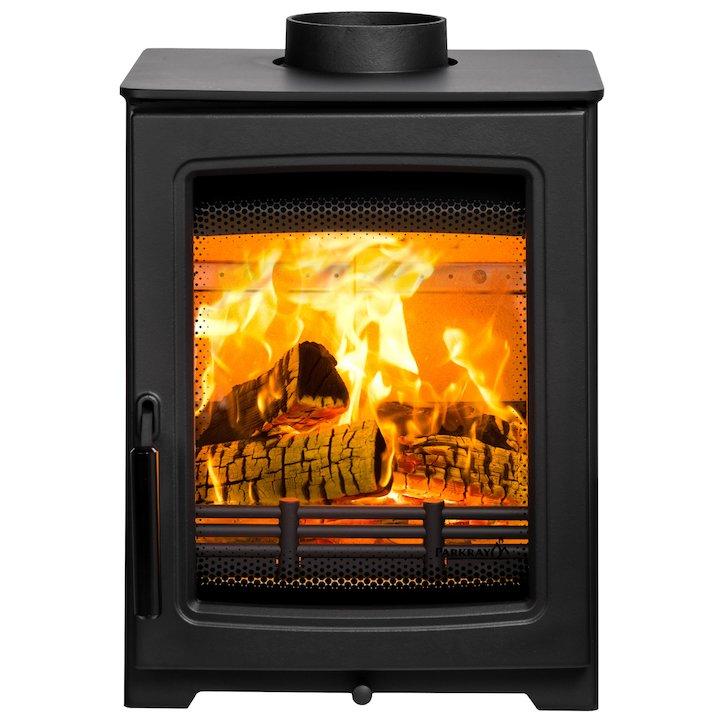 Parkray Aspect 4 Compact Wood Stove Black Black Handles - Black