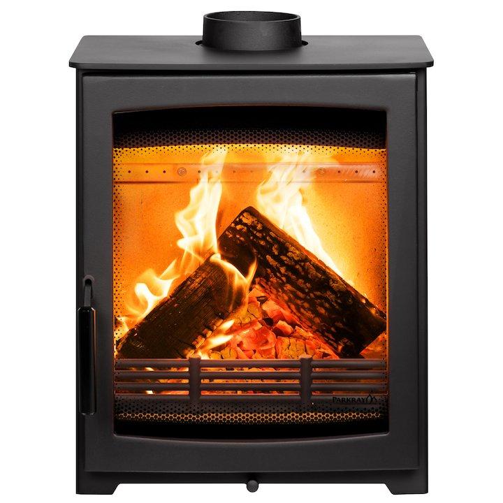 Parkray Aspect 5 Compact Wood Stove Black Black Handles - Black