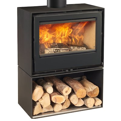 Rocal Habit 70A Logstore Wood Stove