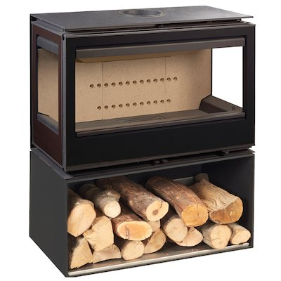 Rocal Habit 93 TC Logstore Wood Stove