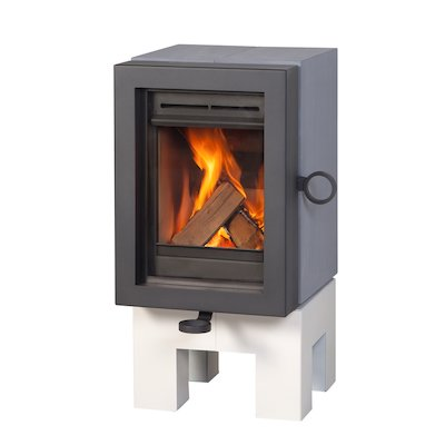 Wanders Oak Wood Stove Grey White Legs