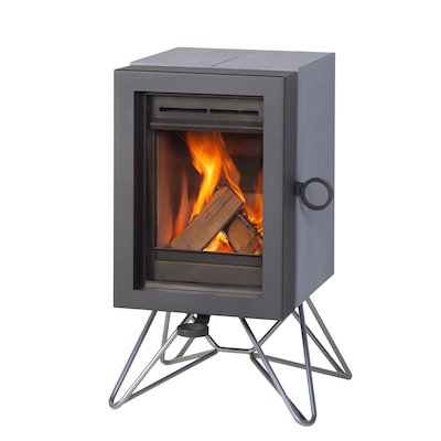Wanders Oak Wood Stove Grey Wired Legs