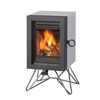 Wanders Oak Wood Stove White Wired Legs