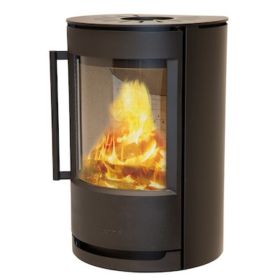 Wiking Luma Plinth Wood Stove Black Solid Sides