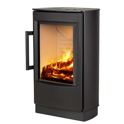 Wiking Miro Plinth Wood Stove Black Solid Sides