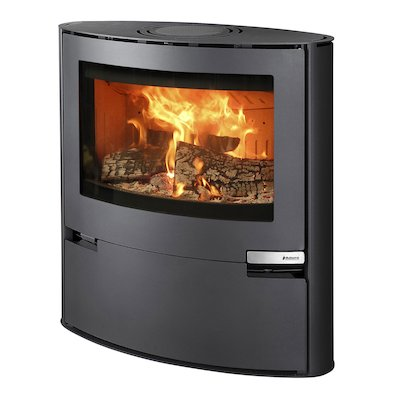 Aduro 15 Wood Stove Black Metal Framed Door