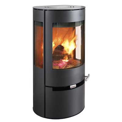 Aduro 9 Wood Stove Black Side Glass Windows