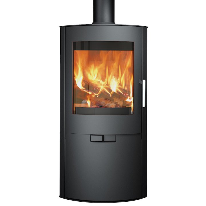 Broseley Evolution Flair 8 Multifuel Stove Black Logstore with Door - Black