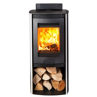 Di Lusso R4 Euro Wood Stove Stainless Steel Curved Sides