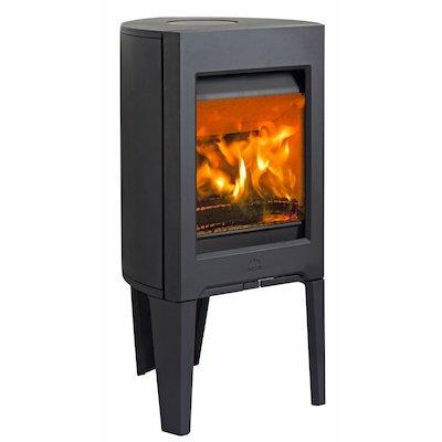 Jotul F160 Wood Stove Black Solid Sides