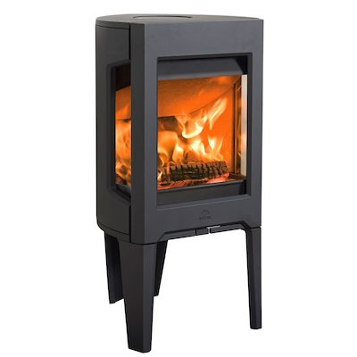 Jotul F160 Wood Stove Black Side Glass Windows