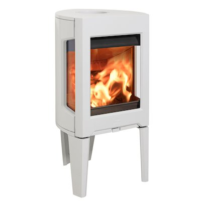 Jotul F160 Wood Stove Enamel White Side Glass Windows