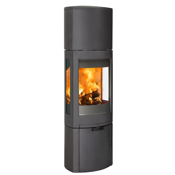 Jotul F371 Advanced High Top Wood Stove Black Logstore with Door - Black