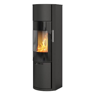 Rais Hera Wood Stove Black Black Glass Framed Door