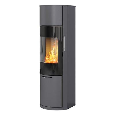 Rais Hera Wood Stove Platinum Black Glass Framed Door