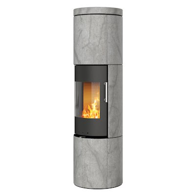 Rais Juno 160 Wood Stove Black/Soapstone Metal Framed Door Solid Sides