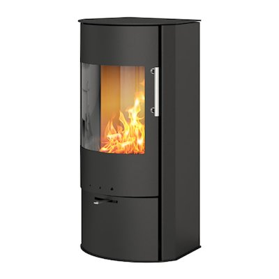 Rais Rina Wood Stove Black Metal Framed Door