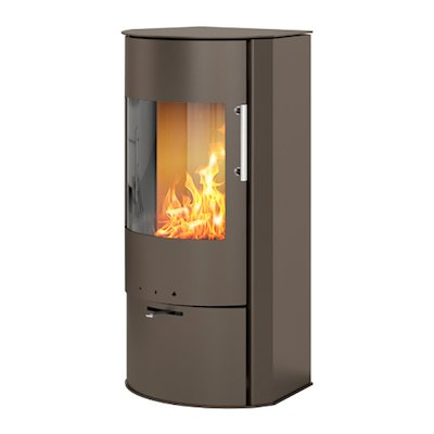 Rais Rina Wood Stove Mocha Metal Framed Door