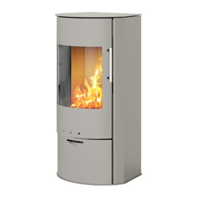 Rais Rina Wood Stove Nickel Metal Framed Door