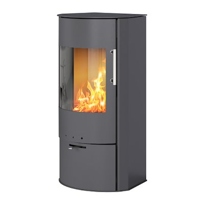Rais Rina Wood Stove Platinum Metal Framed Door