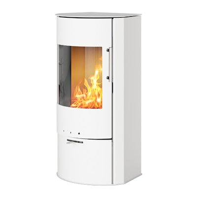 Rais Rina Wood Stove White Metal Framed Door