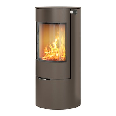 Rais Viva 100L Wood Stove Mocha Metal Framed Door Solid Sides