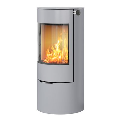 Rais Viva 100L Wood Stove Nickel Metal Framed Door Solid Sides
