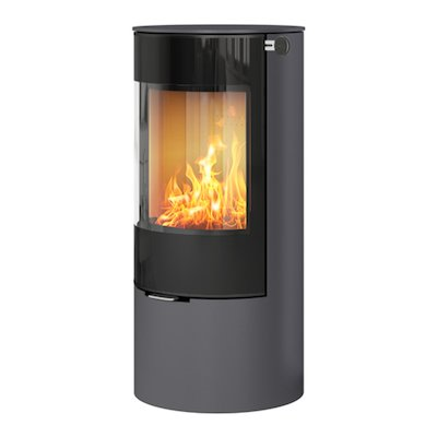 Rais Viva 100L Wood Stove Platinum Black Glass Framed Door Solid Sides