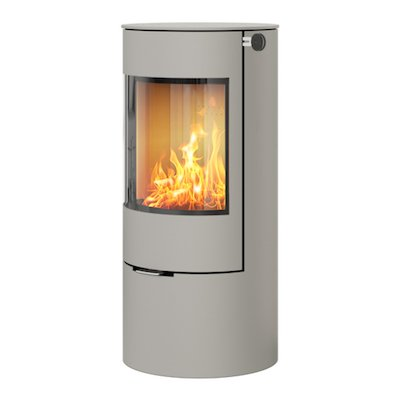 Rais Viva 100L Wood Stove Silver Metal Framed Door Solid Sides
