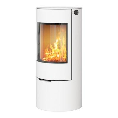 Rais Viva 100L Wood Stove White Metal Framed Door Solid Sides