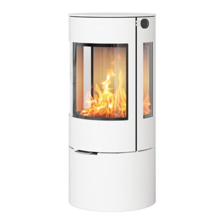 Rais Viva 100L Wood Stove White Metal Framed Door Side Glass Windows - White