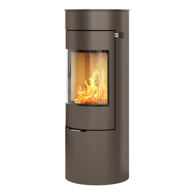 Rais Viva 120L Wood Stove Mocha Metal Framed Door Solid Sides