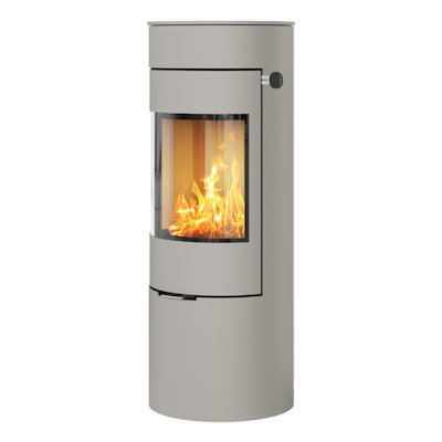 Rais Viva 120L Wood Stove Nickel Metal Framed Door Solid Sides