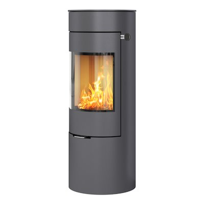 Rais Viva 120L Wood Stove Platinum Metal Framed Door Solid Sides