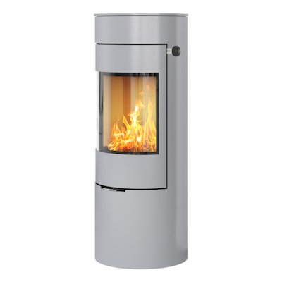 Rais Viva 120L Wood Stove Silver Metal Framed Door Solid Sides