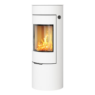 Rais Viva 120L Wood Stove White Metal Framed Door Solid Sides