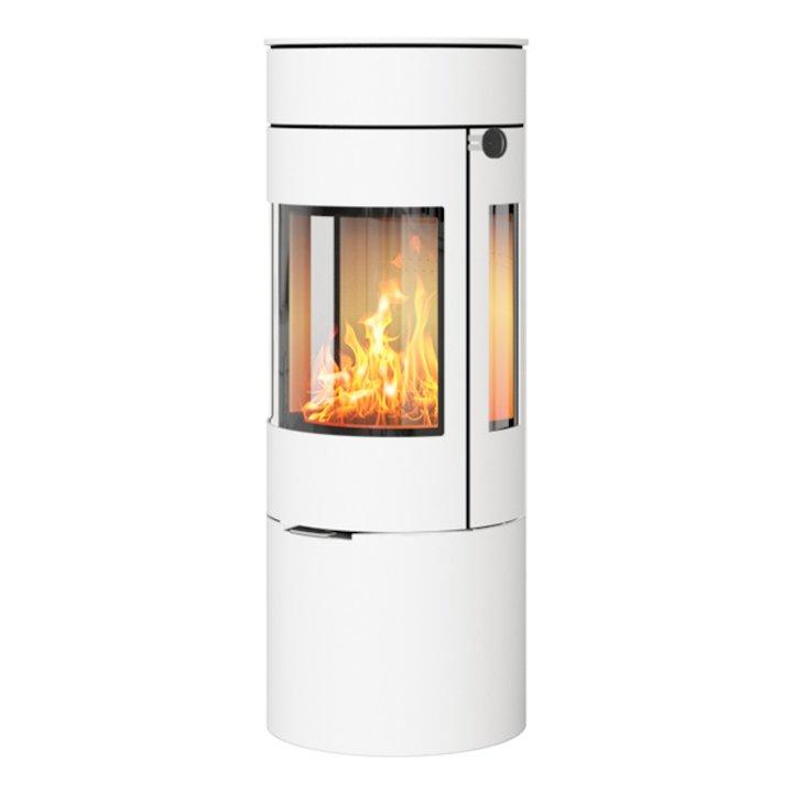 Rais Viva 120L Wood Stove White Metal Framed Door Side Glass Windows - White