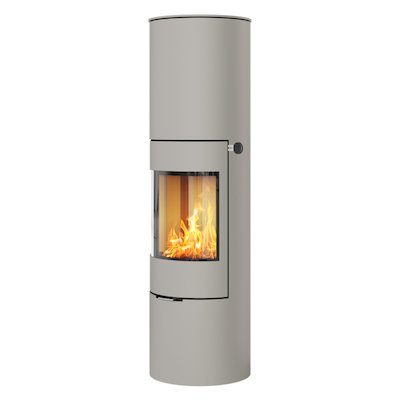 Rais Viva 160L Wood Stove Nickel Metal Framed Door Solid Sides